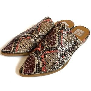 NWOB Dolce Vita Snakeskin Izzie Mules Shoes